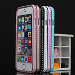 Piano Paint Metal Frame+Crystaldiamond+TPU Combo Shell for iPhone 5/5S (Assorted Colors)