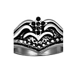 Cross Ring 316L Stainless Steel Rings for Men New Fashion Black Zircon Accessories Aneis Masculino R078
