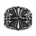 Ring Jewelry Steel Cross Jewelry Unique Design Fashion Black Jewelry Wedding Party Halloween Daily 1pc