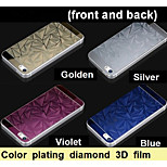 Color plating diamond 3D anti explosion glass protection film (front and back) for iPhone5
