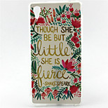 Cool Words Flower Painting Pattern TPU Soft Case for Sony Xperia M4 Aqua