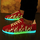 unisex mode lys sneakers mænd& kvinder førte sko usb opladning trend den lysende