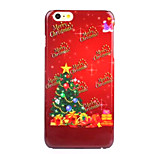 Christmas Tree Decal UV Varnish PC Material Christmas Phone Case for iPhone 6 /6S
