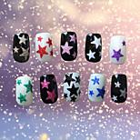 1PCS  Star  3D Nail Sticker Decals 10  Color
