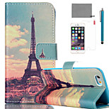 LEXY® Huang Tower Pattern PU Full Body Leather Case with Screen Protector and Stylus for iPhone 6/6S