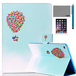 LEXY® Balloon Travel Pattern PU Leather Flip Stand Case with Screen Protector and Stylus for iPad Mini 1/2/3