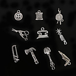 Beadia Metal Tool Charm Pendants Antique Silver Plated DIY Jewelry Accessories