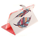 Double Color Feathers Pattern PU Leather Full Body Case TPU With Stand for iPad Mini 4