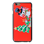Christmas Style Cute Snowman Pattern PC Hard Back Cover for iPhone 6