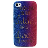 Letter Shower Pattern TPU Case for iphone 4G/4S