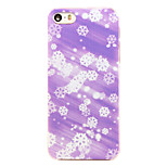 Christmas Style Purple Snowflake Pattern Transparent PC Back Cover for iPhone 5/5S
