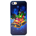 Christmas Bell UV Varnish PC Material Christmas Phone Case for iPhone 5 /5S