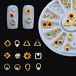 24PCS Japanese Nail Putiel New Metal Jewelry Alloy Wheel Disc Boxed