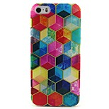 Color Mosaic Pattern TPU Soft Cover for iPhone 5/5S