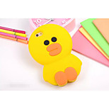 Silicone Material Solid Yellow Chicken Style for iPhone 5/5S