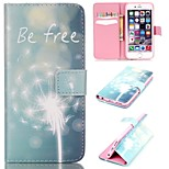 The Dandelion Pattern Relief  PU Leather Wallet Case with Stand and Card Holder for iphone 6plus/6Splus