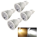 YouOKLight® 4PCS GU10 5W 500lm 3000K/6000K  5-LED SpotLight Bulb Lamp  (AC85~265V)-Silver