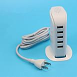 30w 5 Porta USB Power Adapter per tablet / smartphone