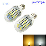 YouOKLight® 2PCS E27 12W 700lm CRI>80 3000K/6000K 90*SMD2835 LED Light Corn Bulb (AC90-265V)