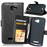 High Quality PU leather Wallet Mobile Phone Holster Case For Alcatel 7040 t (Assorted Color)