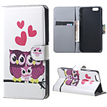 Magnetic Leather Stand Case Cover for iPhone 6/6S - Love the owl
