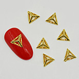 10pcs Hot Individual Silver And Gold in Pyramid 3D Nail Art Decoration