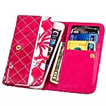 High Grade Wallet Red Pattern PU Leather Cover for iPhone 6/6S (Assorted Size)