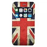 Flag of the UK pattern TPU+PU Flip window shell Case For iPhone6/6s