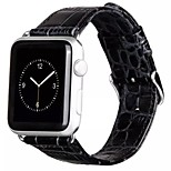Hoco The Crocodile Grain Genuine Leather Unisex Watch Bands Stainless Steel Buckle for Apple iWatch 38MM 42MM
