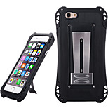 Sport Waterproof Shockproof Aluminum Alloy Back Case for IPHONE 6/ 6S - Black + Black