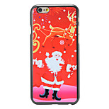 Christmas Style Red Santa Elk Pattern PC Hard Back Cover for iPhone 6
