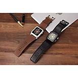 Classic Buckle Chicago Cowhide with With The Connector Watchband for Apple Watch 38/42mm Assorted Colors