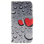 Heart-Shaped Droplets Design PU Leather Full Body Case with Card Slot and Stand TPU Cover for iPod Touch 5