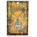 Vintage Steampunk Gear Owl Pendant Necklace
