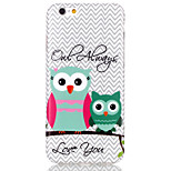 Owl Pattern TPU  Back Cover Case for iPhone 6/iPhone 6S