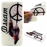 Dream Catcher Words Phrase Pattern 0.6mm Ultra-Thin Soft Case for Sony M5
