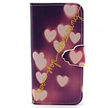 Dream Of Love Pattern PU Leather Full Body Case with Card Slot and Stand for iPhone 5/5S
