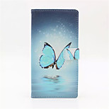 Blue Butterfly About To Open PU Case for Sony Z5