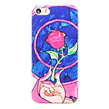 Rose Flower Pattern Transparent PC Back Cover for iPhone 5/5S