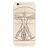 Human Body Stick-Figure Pattern TPU Material Phone Case for iPhone 6/6S