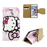 iphone 6 wallet leather cover Disney Hello Kitty pink  with a free Headfore HD Screen Protector for iPhone 6(4.7in)