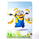 Funny Little Yellow People People Pattern PU Material Flip Bracket Protective Case for iPad  Air 2