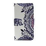 Elephant and Circle Flower PU Leather Wallet Full Body Case with Stand for Huawei G8