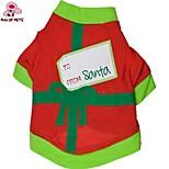 Todas las Estaciones - Rojo - Navidad / Año Nuevo - Algodón - Abrigos / Camiseta - Perros / Gatos - XS / S / M / L