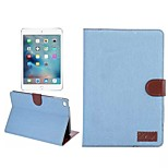 Multifunction Jeans Denim Wallet Flip Case With Credit Card Cover Cowboy Bag for iPad 2/3/4(Assorted Colors)
