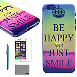 LEXY® Sunset Purple Cloud Pattern Hard PC Back Case with 9H Glass Screen Protector and Stylus for iPhone 5/5S