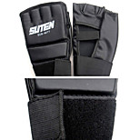 for Boxing Fingerless Gloves Shockproof Wearable Lightweight Polyester PU Synthetic Leather Black