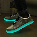 Men's LED Shoes USB charging Outdoor / Athletic / Casual Synthetic Fashion Sneakers Black / Silver / Gold