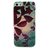 Lleaves Pattern TPU Soft Cover for iPhone 5/5S