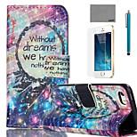 lexy® campanula Traum Muster PU-Ganzkörper-Ledertasche mit Displayschutzfolie und Schreibkopf für iphone 5 / 5s